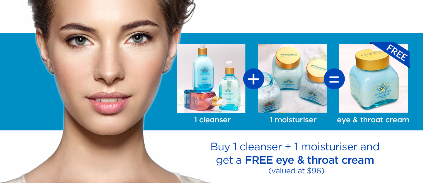 Cleanse and Nourish – Free Eye & Throat Cream April Promotion