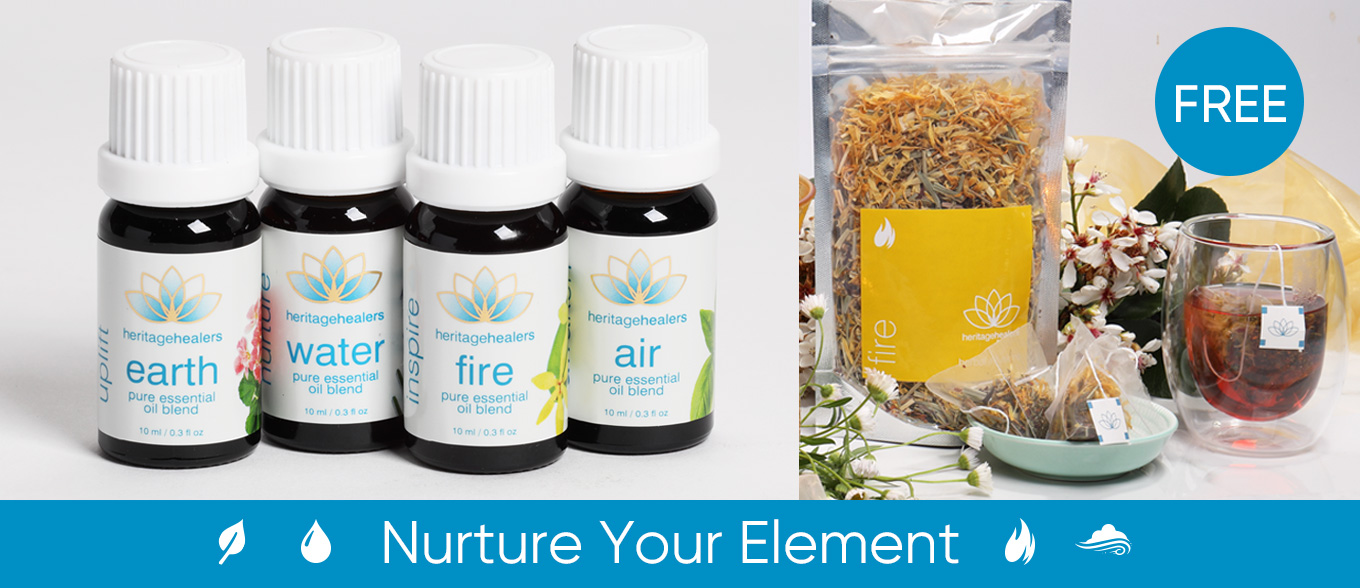 Buy any pure essential oil blend and receive the matching herbal infusion for free.